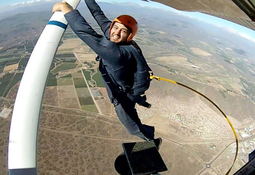 Jean Liebenberg FTJ First Static Line Jump