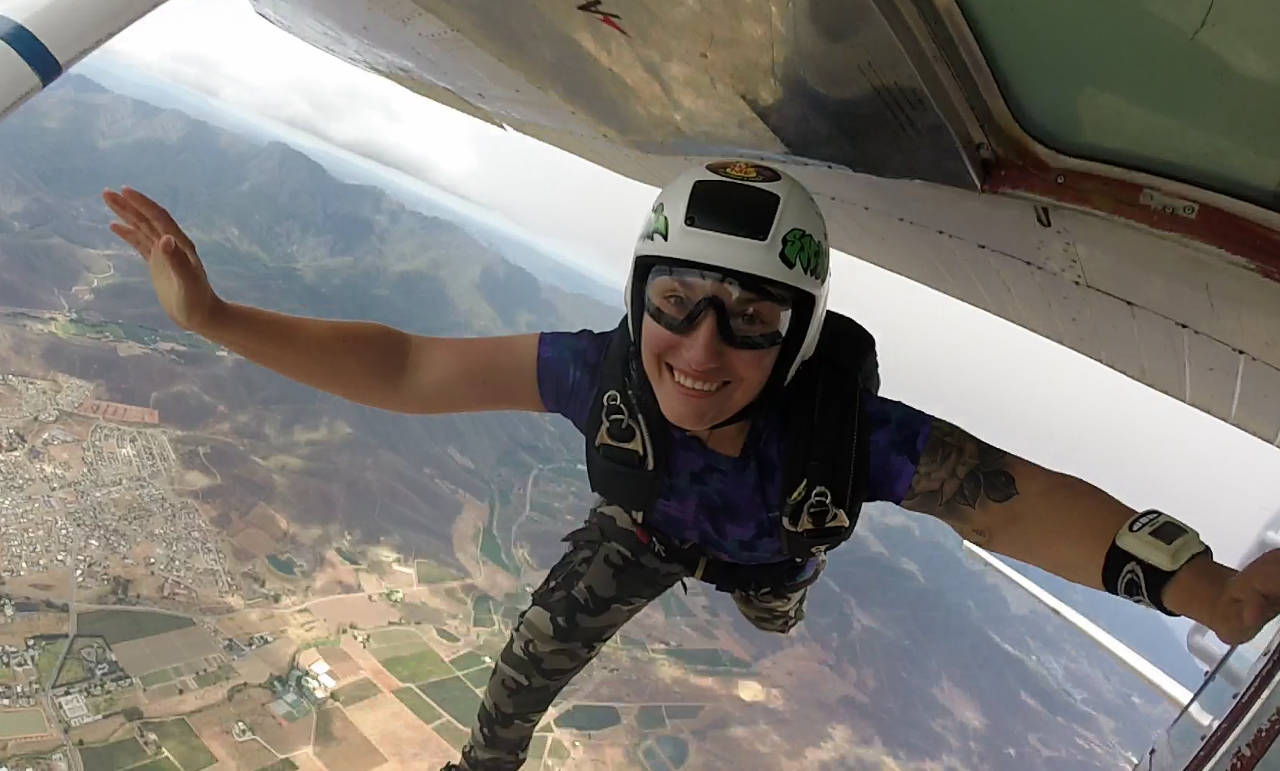 Yvette Smal Robertson Skydive School On Exit